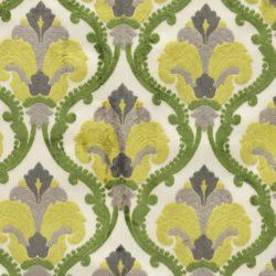 Ткань бархатная желто-зеленая