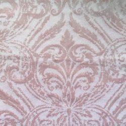 Розовая ткань бархатная с рисунком